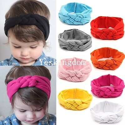 Cute Baby Toddler Girl Kids Hairband Knitted Knot Cross Headband Head Wrap