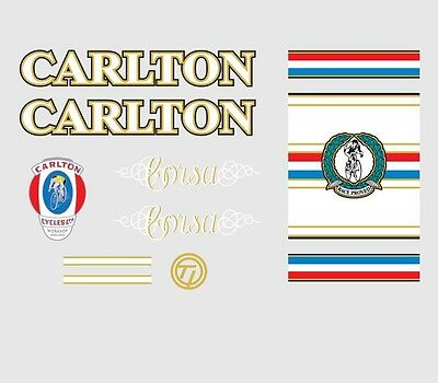 Carlton Bicycle Decals-Transfers-Stickers #2