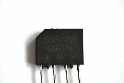 KBP310 Single Phase Bridge Rectifier 3Amp 1000Volts