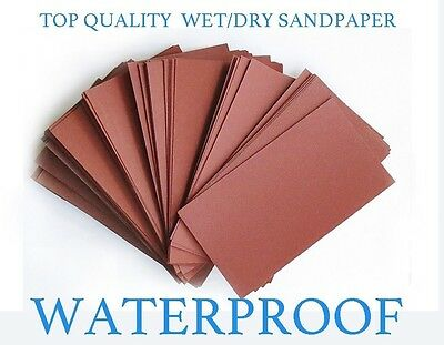 "Sandpaper Wet/Dry 90pc.3"" X 5.5"" COMBO 500/600/800/1000/1200/1500/2000/2500/3000"