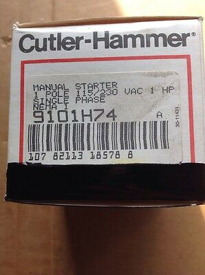 Cutler Hammer Manual Starter  9101H74 1PH NEMA 1 115/230VAC 1HP