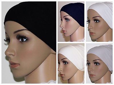 91f1346d2a8a New Cotton Stretchable Under Scarf Cap Hijab Shawl Bonnet Hair Loss Chemo  Cap