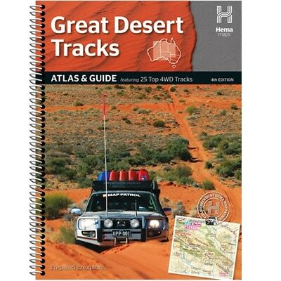 Hema Map Book Great Desert Tracks Atlas & Guide 4th Ed 25 Top 4WD Tracks