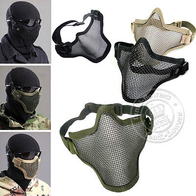 UK Tactical Face Protection Safety Mesh Mask Guard for Paintball Airsoft Game