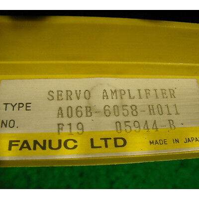FANUC ROBOTIC AC SERVO AMPLIFIER A06B-6058-H011, A06B 6058 H011, Used