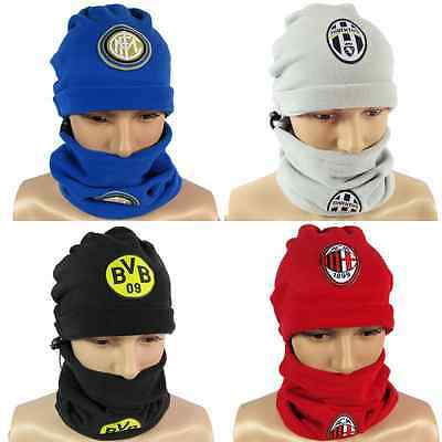 Football Club Soccer Scarf Hat Snood Neck Warmer Thermal Real Madrid Bacelona