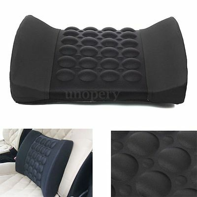 Black Car Seat Back Lumbar Support Comfort Massage Cushion Pillow 12V Protect