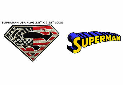 "DC Comics Superman Logo 3"" Patch Embroidered Iron/Sew- on Superhero USA Seller"