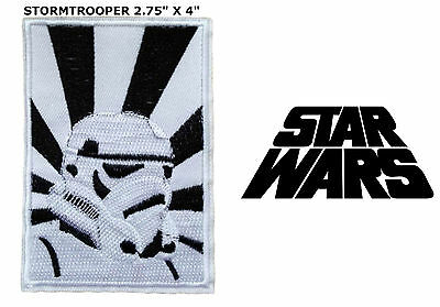 """Star Wars Storm Trooper 2.75"""" X 4"""" Embroidered Iron/Sew-On Movie Patch US Seller"""