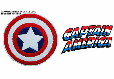 "Marvel Captain America Shield Logo Embroidered Iron/Sew-On 3"" Patch USA Seller"