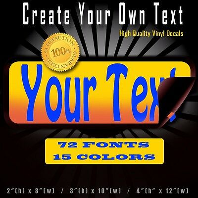 Custom Text Quote Vinyl Decal Lettering Personalized Sticker Car Window Business