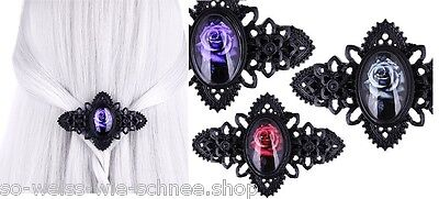 Restyle Haarspange Rose Barrette Gothic Flowers Ornament Hairclip Steampunk WGT