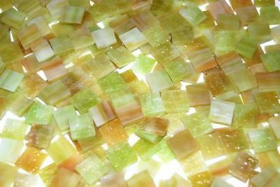 """100 1/2"""" Village Green Tumbled Stained Glass Mosaic Tiles Tile"""