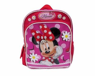 "New Disney Minnie Mouse 10"" Mini Kids Backpack  Girls School Book Bag"