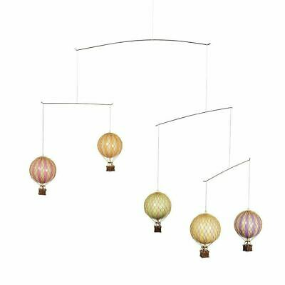 Hot Air Balloon Mobile Pastel Colors Hanging Aviation Nursery Home Ceiling Decor