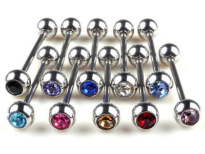 100/50Pcs Stainless Steel Body Piercing Jewelry Ball Tongue Bars Rings Barbell