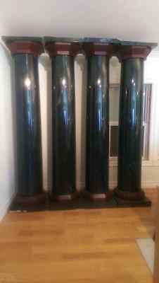 (4) 7 ft Wood Interior Columns