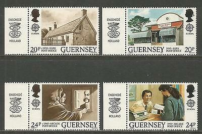 Guernsey 1990 Europa/Post Offices--Attractive Architecture Topical (422-25) MNH
