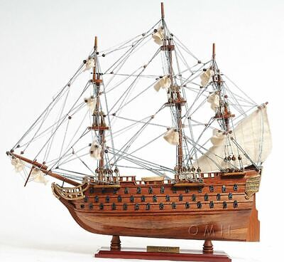 "HMS Victory Admiral Nelson's Tall Ship 20"" Wood Model Sailboat Assembled"