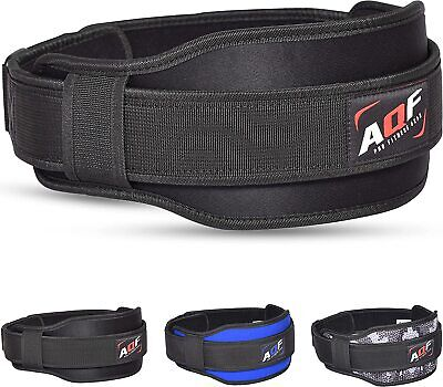 AQF Weight Lifting Belt Gym Training Back Support Neoprene Lumber Pain Fitness M