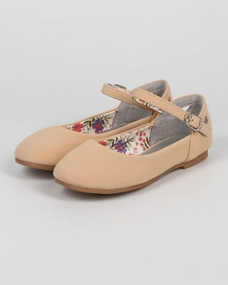 402691034acb New Girl Little Angel Britt-873E Nubuck Round Toe Cutout Mary Jane Ballet  Flat