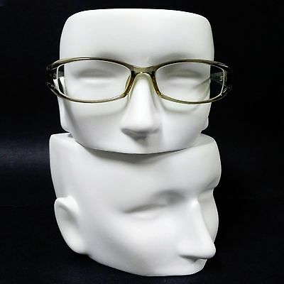 MN-AA13(FF) 1 PC WHITE Female/Youth Half Face Glasses Display Head (Narrow Face)
