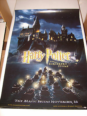 HARRY POTTER SORCERER'S STONE (2001) US ORIGINAL 27x40 DS MOVIE POSTER (468)