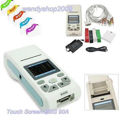 CONTEC Touch Color LCD EKG 3/6/12-lead ECG Machine Electrocardiograph+SW+SD Card
