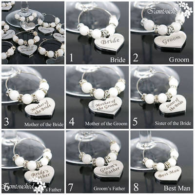 Wine Glass Charms  Wedding Party Supplies Drink Markers table Decoration Place