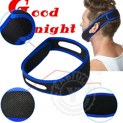 UK Professional Anti Snoring Chin Strap Snore Stopper Apnea Jaw Support Belt