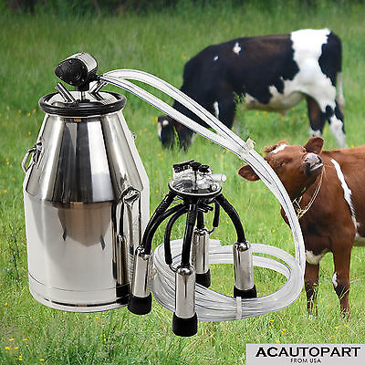 Top Quality 304 Stainless Steel Milk Bucket - Cow Milking Equipment US Stock