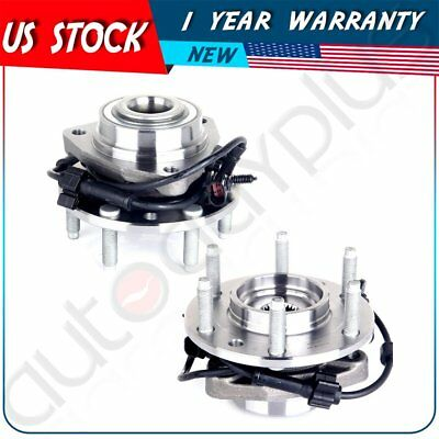 2 Pcs Brand New Complete Front Wheel Hub Bearing Assembly 2002-09 GMC &chevy