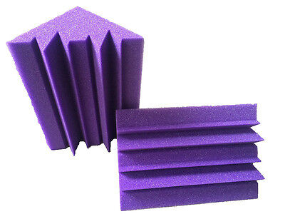 12PCS Acoustic Corner Sponge 12 x 12 x 24cm Purple Bass Trap Studio Foam