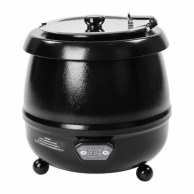 Electric Soup Kettle Food Warmer 450 Watt Cooker Warmer Pot 10 Litres Up To 95°C
