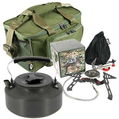 NGT Gas Stove & Kettle In Carryall Carp Fishing Camping Hiking Portable Stove