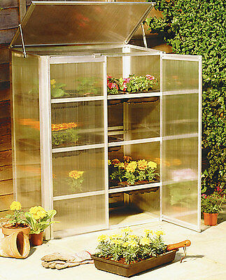 Mini Greenhouse Aluminium Cellular sheets with 9 Flower Swing Doors