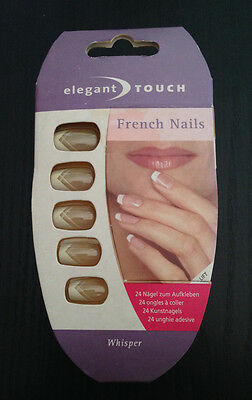 24 Unghie Finte Adesive Elegant Touch French Nails Whisper Kit Nails Ongles