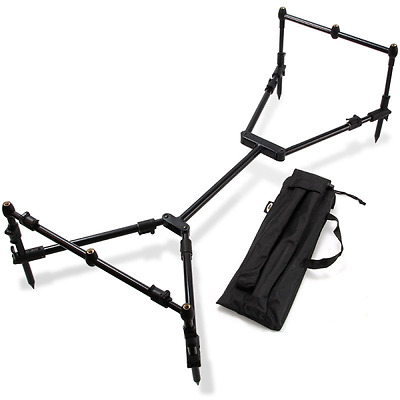 Rod Pod Carp Fishing Fully Adjustable Compact Black Pod Deluxe Case NGT Nomadic