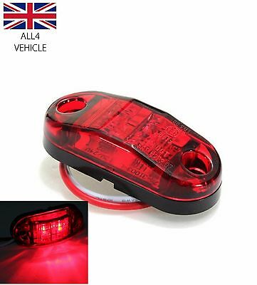 4 X 24V 2 Smd Led Red Rear Marker Lights Truck Trailer Lorry Indicator Lamps Bus