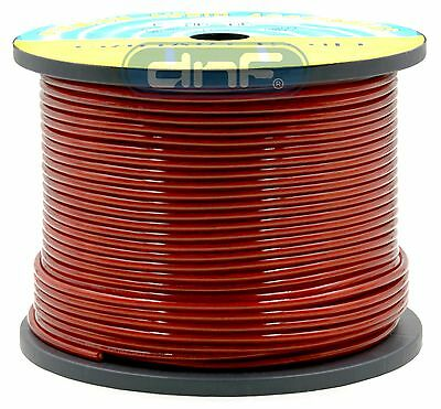 10 Gauge 100% OFC Red See Through Power Cable 500 Feet - SAME DAY SHIPPING!