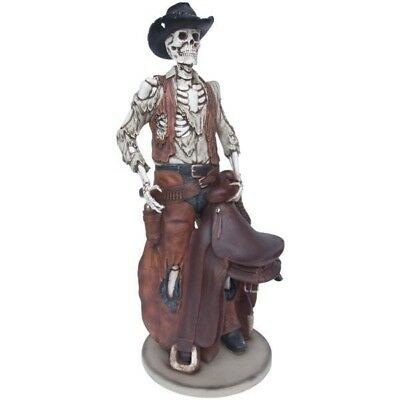 Skeleton Cowboy Statue - Life Size  - Western Display - Free Ship