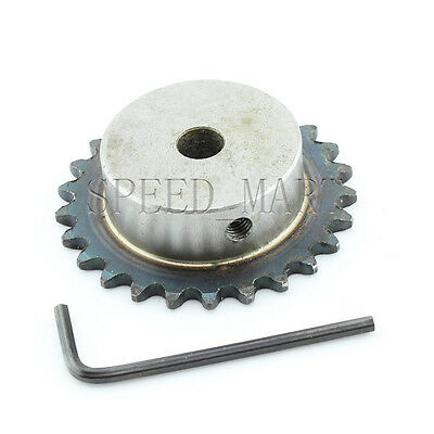 10mm Bore 25 Teeth 25T Metal Pilot Motor Gear Roller Chain Drive Sprocket