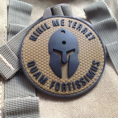 Molon Labe BADGE Nothing frightens Me Tactical Morale USA ARMY PVC Patch