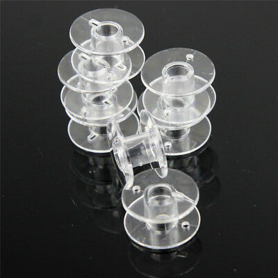 25 x Clear Sewing Machine Plastic Bobbins Top Quality and Best Price on ebay