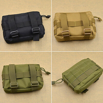 Military Tactical Bag Belt Pouch Tool Kit Organizer Holder Case Outdoor Camping
