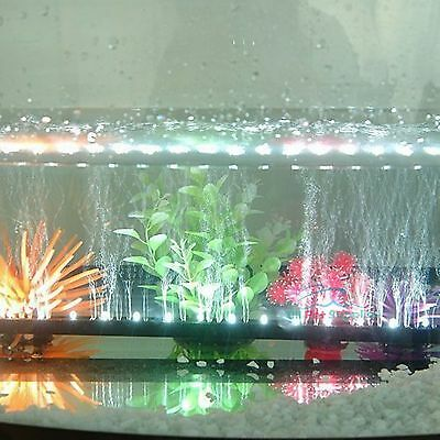 "White LED for 10""-48"" Aquarium Fish Tank Underwater Submersible Air Bubble Light"