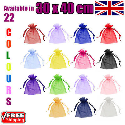 30 x 40 cm Organza Gift Pouch Wedding Favour Bags Jewellery Pouch in 23 Colours!