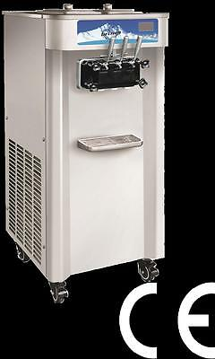 50L Soft Serve Ice Cream Machine - 2 Compressors + 2 Cylinders - Factory Direct