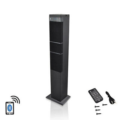 New Home Theater Bluetooth 2.1 Sound Tower Speaker System AUX In FM Radio Remote