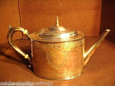 Gorgeous Atkin Brothers Antique Sheffield Georgian Style Silver Plated Teapot